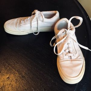 Vans  VGUC Blush Pink Sneakers Casual Shoes 7
